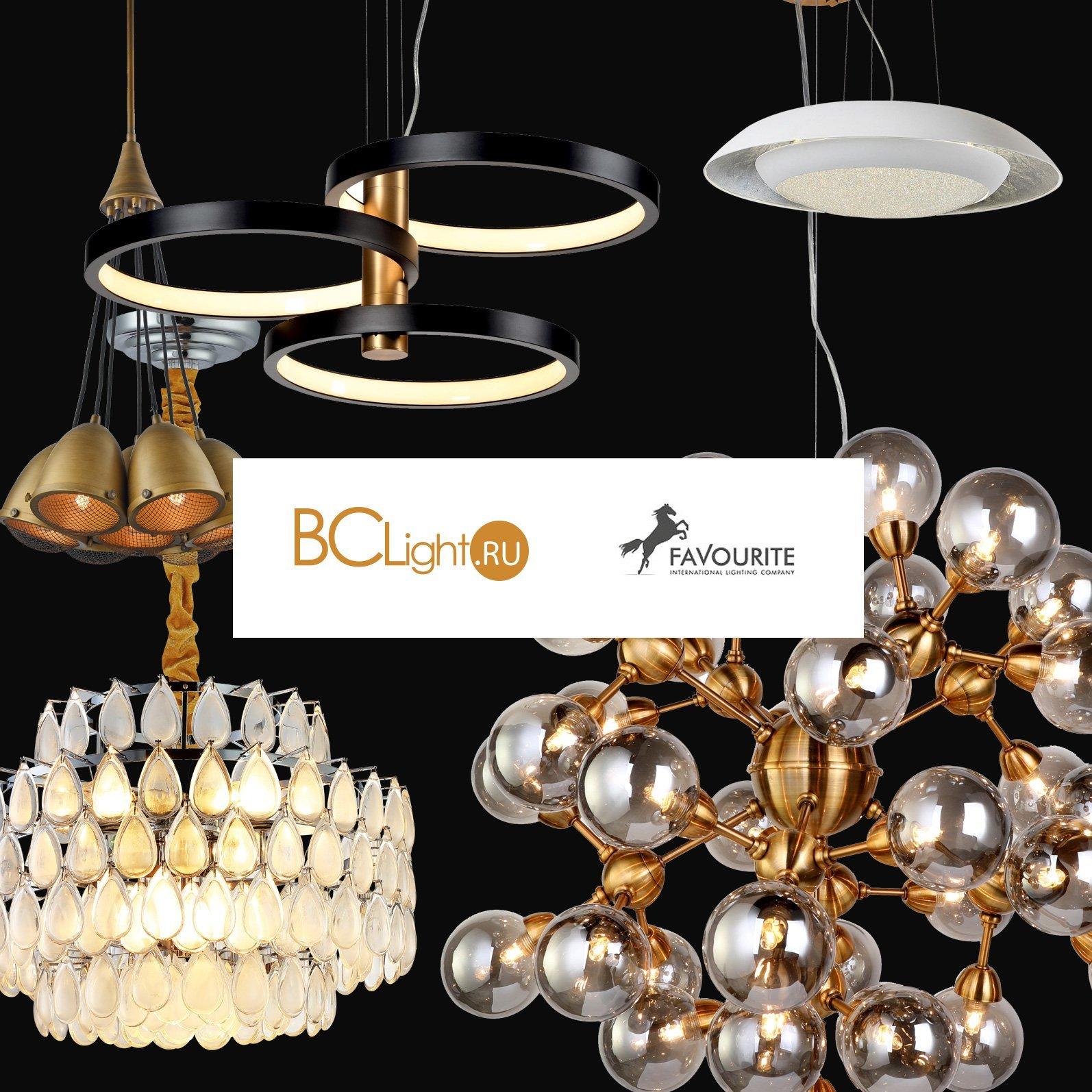 Новинки подвесных светильников Favourite
