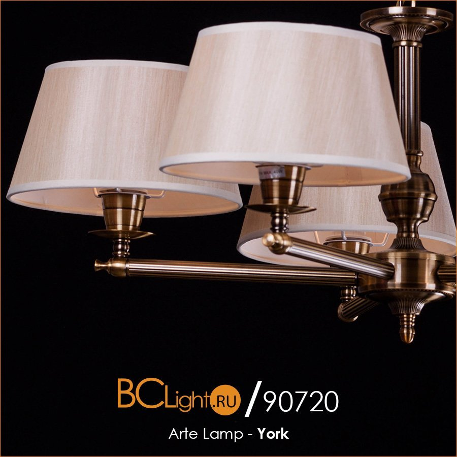 Полный обзор подвесной люстры Arte Lamp York A2273LM-5RB