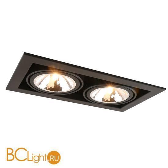 Встраиваемый спот (точечный светильник) Arte Lamp Cardani A5949PL-2BK
