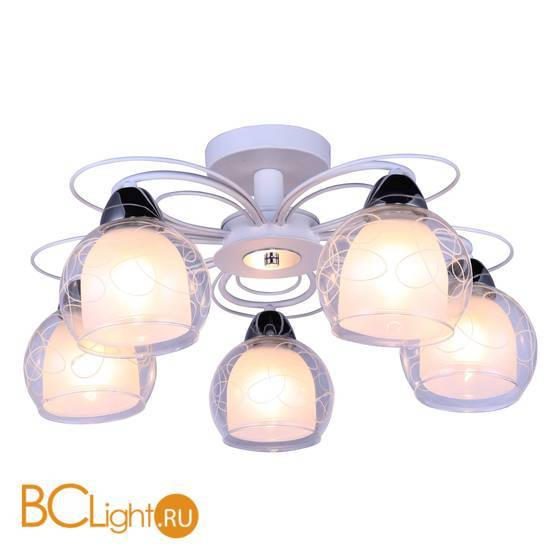 Потолочная люстра Arte Lamp Sansa A7585PL-5WH