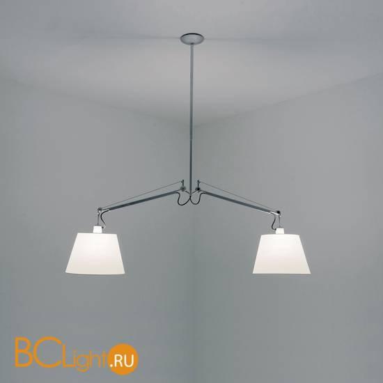 Подвесной светильник Artemide Tolomeo basculante sospensione 2 bracci - Pergamena 240 0630010A + 2 x 0372050A