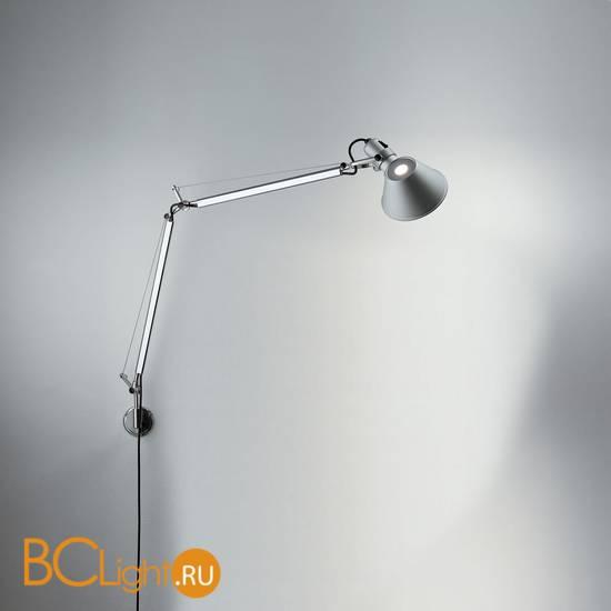 Бра Artemide Tolomeo micro parete - Halo Alluminio A010900 + A025150