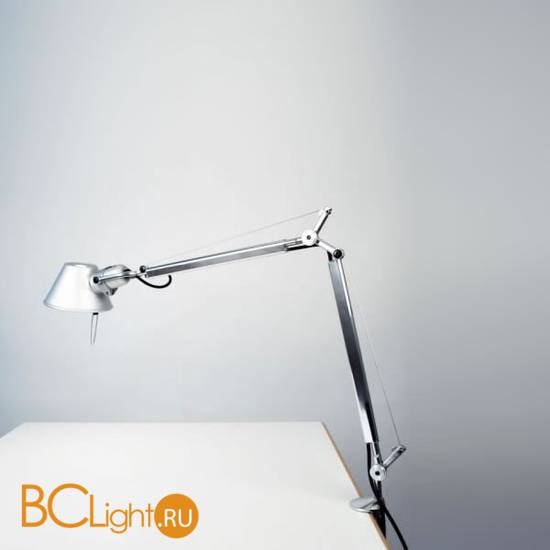 Настольная лампа Artemide Tolomeo midi halo aluminium A001000 + A004100