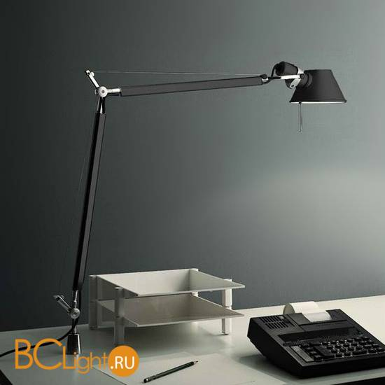 Настольная лампа Artemide Tolomeo midi halo black A004430 + A004200