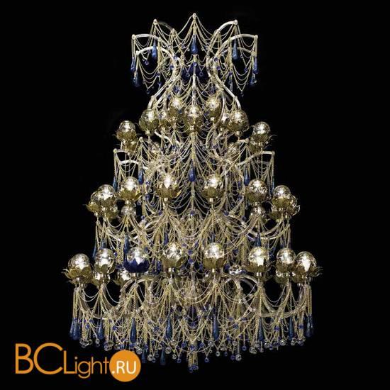 Люстра Beby Group Beby Resort 3400B01 Light Gold Blue Orchid Sapphire