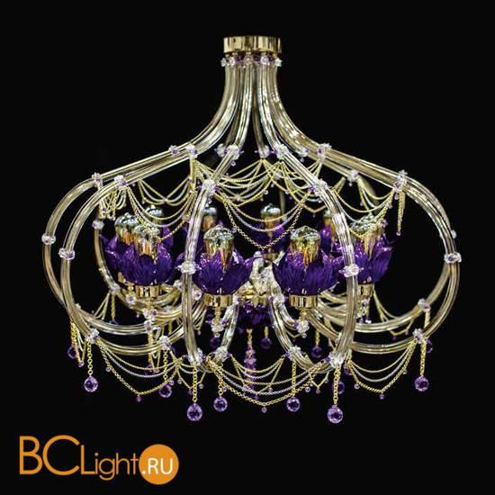 Потолочная люстра Beby Group Beby Resort 3400B02 Light Gold Violet