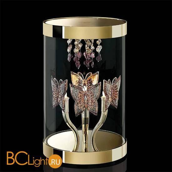 Настольная лампа Beby Butterfly 0190L01 Gold SW Blu Violet
