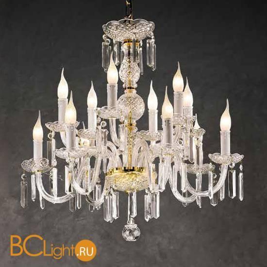 Люстра Beby Group Crystal 335/8+4 Light gold CUT CRYSTAL