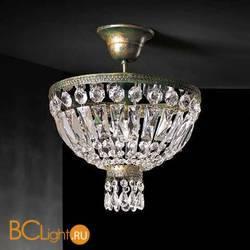 Потолочный светильник Beby Group Empire 1100/1 Green Gold CUT CRYSTAL