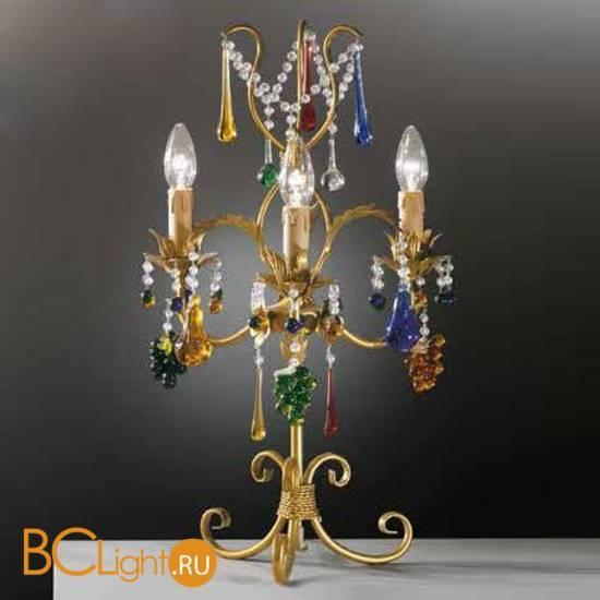 Настольная лампа Beby Group Fruit 101/3L Gold Paint multi murano