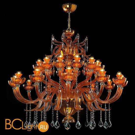 Люстра Beby Garden Party 7810BB4 Gold Orange Sicily Swarovski Plaque