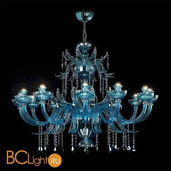 Люстра Beby Garden Party 7810BB3 Chrome Turquoise Capri SW Jet Turquoise