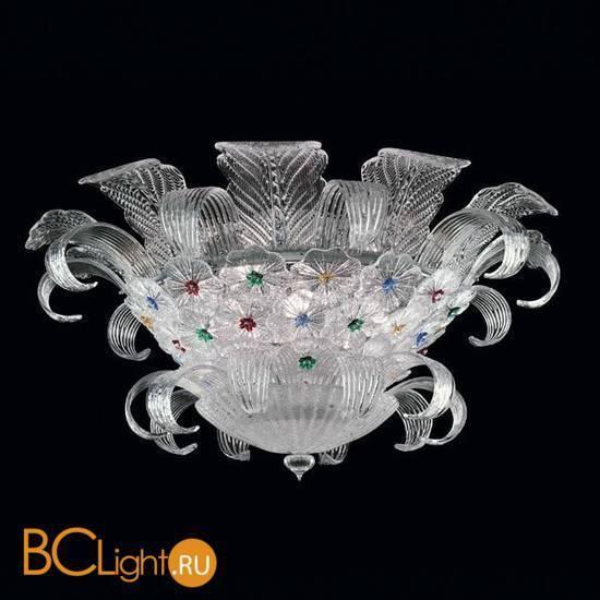 Потолочный светильник Beby Group Mademoiselle Corolle 8000Q01 Chrome Trasparent graniglia Glass