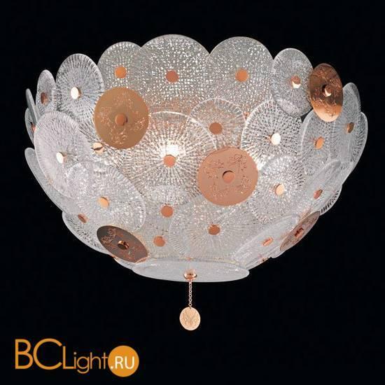 Потолочный светильник Beby Group Mademoiselle Corolle 8020Q01 Light gold Trasparent graniglia Glass