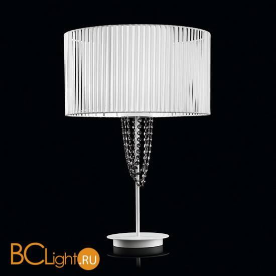 Настольная лампа Beby Group Miss Bjioux 0117L01 White Leather 01 White Trasparent Cut Crystal
