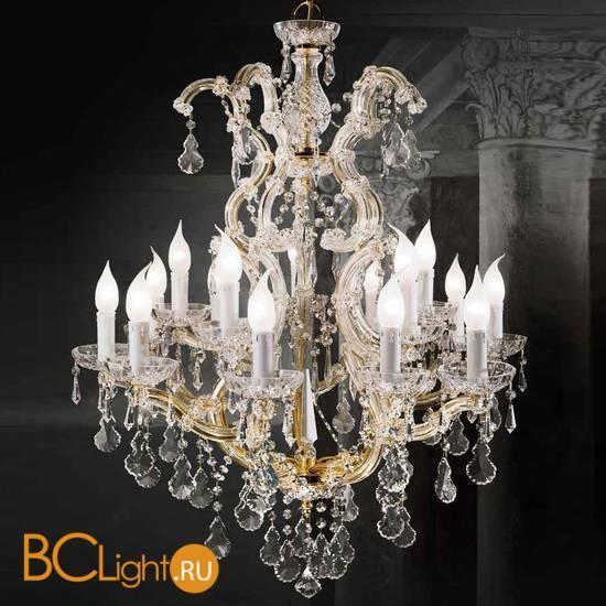 Люстра Beby Group Novecento 6308/10+5 Light gold HALF CUT