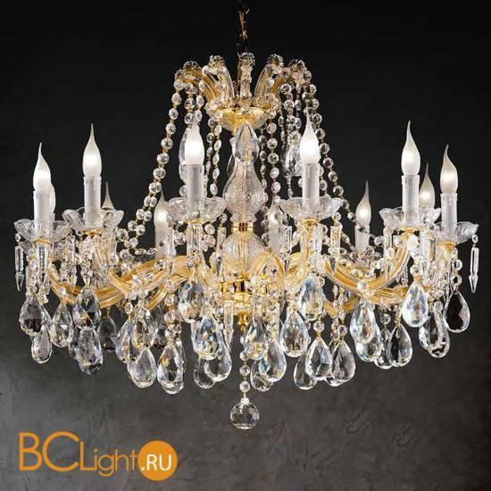 Люстра Beby Group Novecento 700/12 Light gold CUT CRYSTAL
