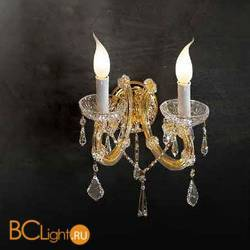 Бра Beby Group Novecento 755/2A Light gold CUT CRYSTAL
