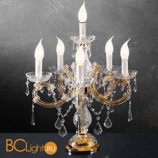 Настольная лампа Beby Group Novecento 765/5+1L Light gold CUT CRYSTAL