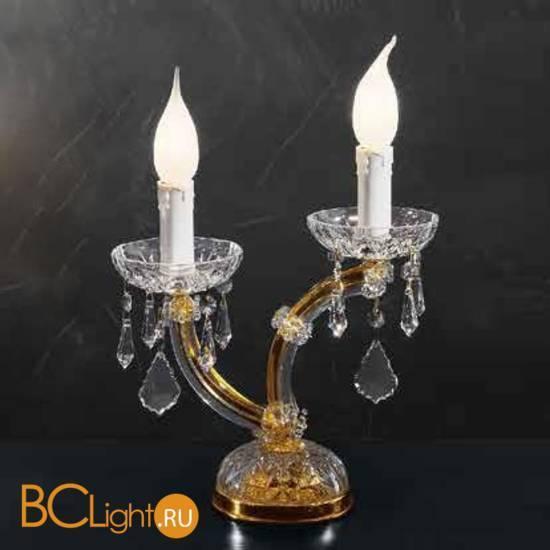 Настольная лампа Beby Group Novecento 790/2L Light gold CUT CRYSTAL