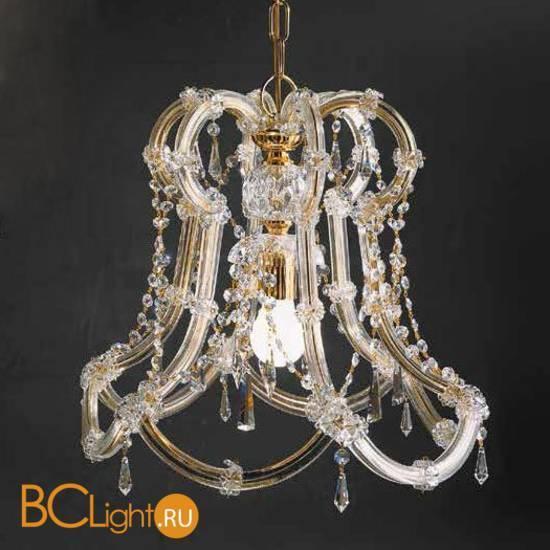 Подвесной светильник Beby Group Novecento 6303/1 Light gold CUT CRYSTAL