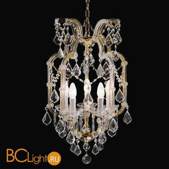 Люстра Beby Group Novecento 490/5 Light gold CUT CRYSTAL
