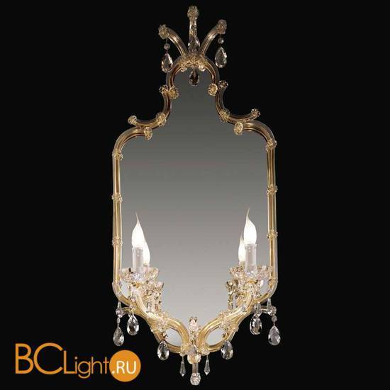 Бра Beby Group Novecento 435/2S Light gold CUT CRYSTAL