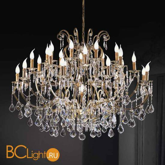 Люстра Beby Group Old style 3336/27+1 Bronze brushed CUT CRYSTAL