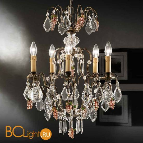 Люстра Beby Group Old style 3324/5 Rusty HALF CUT WITH GLASS FRUITS