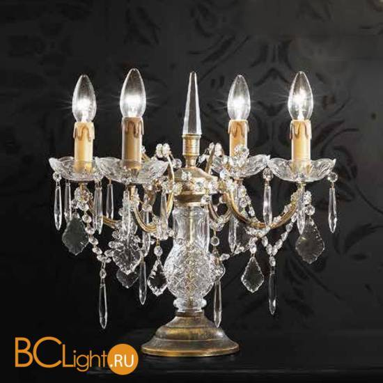 Настольная лампа Beby Group Old style 3312/4L Black gold CUT CRYSTAL