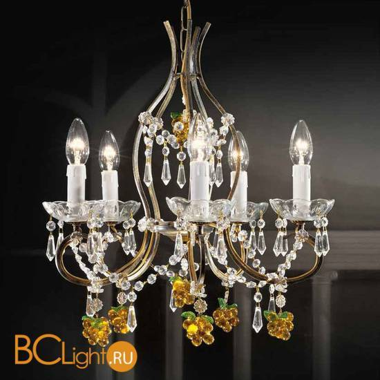 Люстра Beby Group Old style 3305/5 Black gold CUT WITH GLASS FRUITS