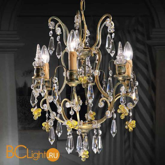 Люстра Beby Group Old style 3326/3 Green gold CUT WITH GLASS FRUITS