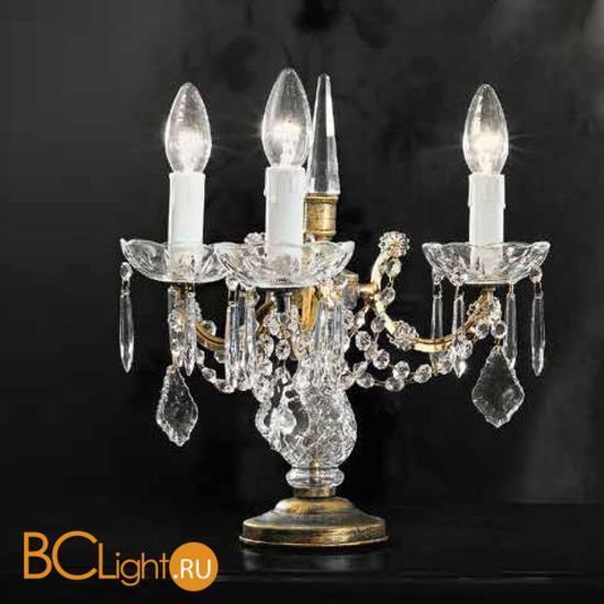Настольная лампа Beby Group Old style 3285/3L Black gold CUT CRYSTAL