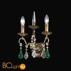 Бра Beby Group Old style 3309/2A Black gold CUT WITH GLASS FRUITS