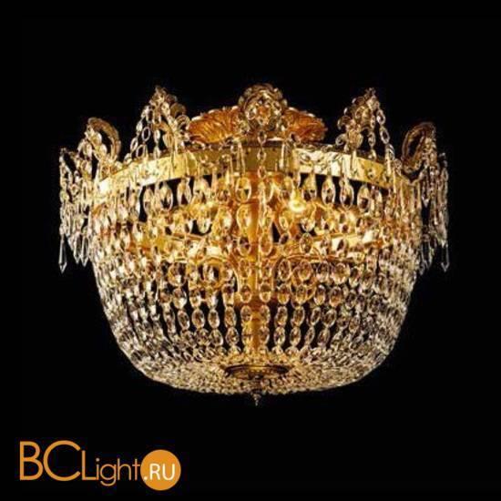 Потолочный светильник Beby Group Opera 2002/10PL Light gold CUT CRYSTAL