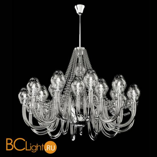 Люстра Beby Group Peonia 7701B01 Silver Cortina + pendants