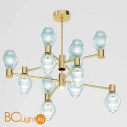 Потолочная люстра Beby Group Peonia 7701B04 Light Gold Turquoise Capri