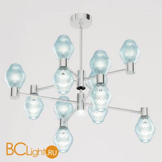 Потолочная люстра Beby Group Peonia 7701B04 Chrome Turquoise Capri