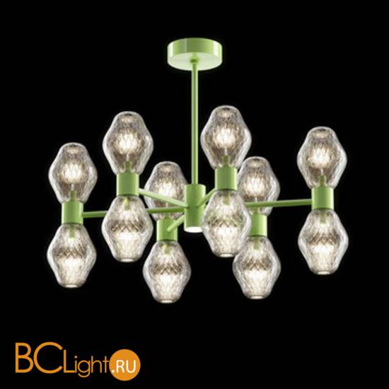 Потолочная люстра Beby Group Peonia 7701B06 Green Gold Silver Cortina
