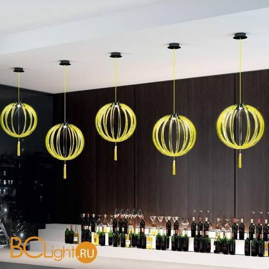 Подвесной светильник Beby Group Planet nine 0660B02 Black matt Lemon Ice