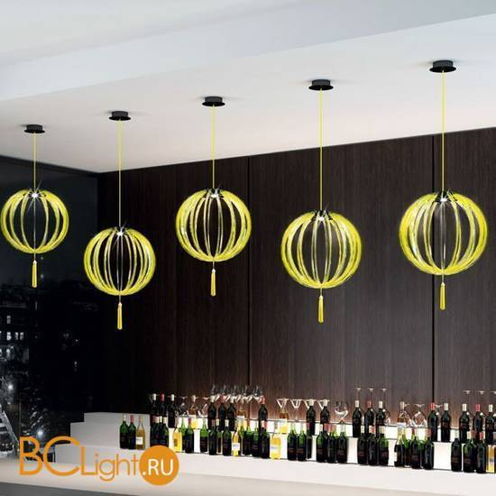 Подвесной светильник Beby Group Planet nine 0660B01 Black matt Lemon Ice