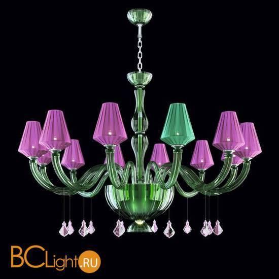 Люстра Beby Group Pure 7820BB4 Chrome Green Tuscany N316 Fuxia