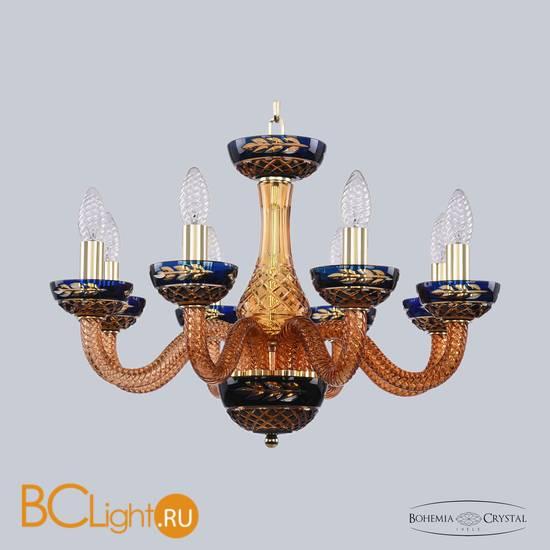 Люстра Bohemia Ivele Crystal 1308/8/195 G Am/Amber-Blue/H-1J