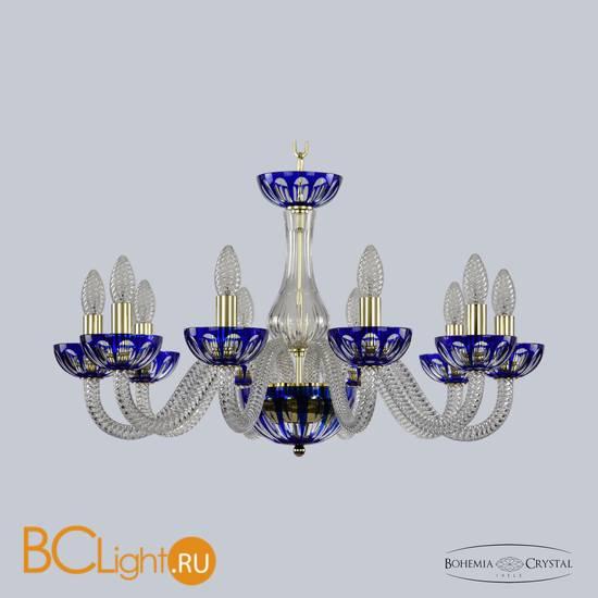 Люстра Bohemia Ivele Crystal 1308/10/240 G Cl/Clear-Blue/H-1H