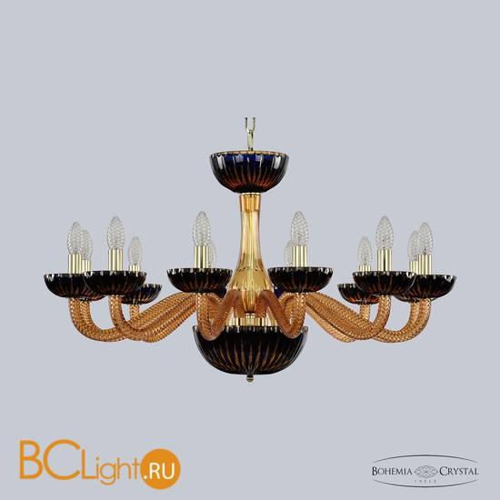 Люстра Bohemia Ivele Crystal 1309/12/300 G Am/Amber-Blue/H-1K