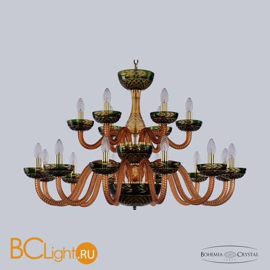 Люстра Bohemia Ivele Crystal 1308/12+6/360/2d G Am/Amber-Green/H-1J