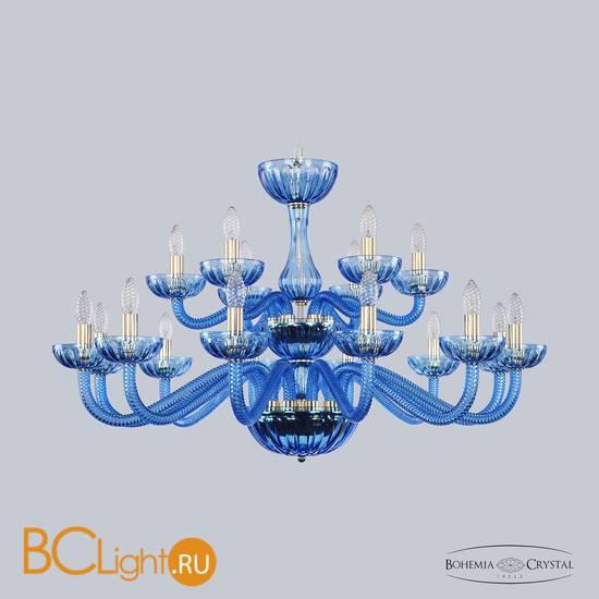 Люстра Bohemia Ivele Crystal 1311/12+6/360/2d G Aq/Aquamarine/M-1H
