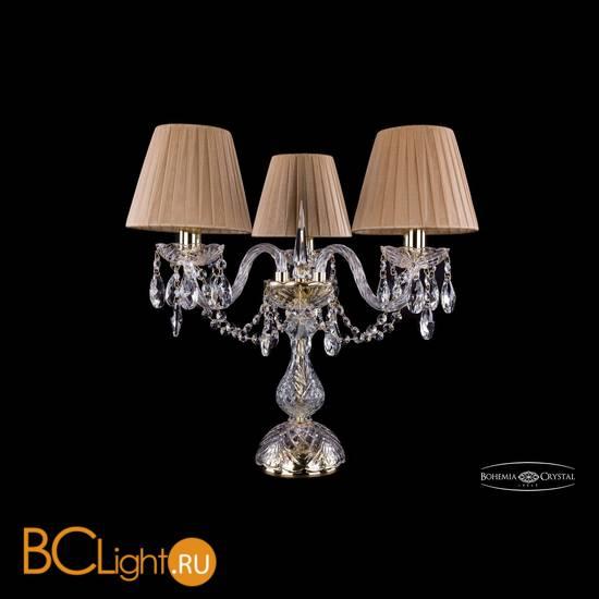 Настольная лампа Bohemia Ivele Crystal 1406L/3/141-39/G/SH37-160/