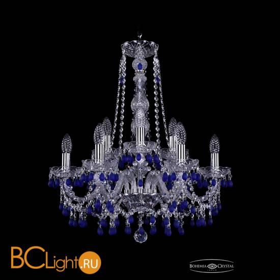 Люстра Bohemia Ivele Crystal 1410/6+3/195/h-63/Ni/V3001
