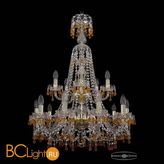Люстра Bohemia Ivele Crystal 1410/10+5/240/XL-91/2d/G/V1003